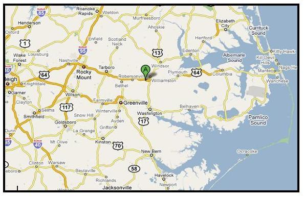 Martin County Nc Map.Rosinburg Events Facilities